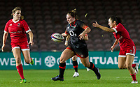 Amy Cokayne in action, England Women v Canada in an Autumn International match at The Stoop, Twickenham, London, England, on 21st November 2017 Final score 49-12