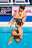 FAZEKAS-GONDOS, KORMOS Villő HUN<br /> Diving <br /> Women's 3m Synchro Springboard Preliminary<br /> Day 04 17/07/2017 <br /> XVII FINA World Championships Aquatics<br /> Duna Arena Budapest Hungary July 15th - 30th 2017 <br /> Photo @A.Masini/Deepbluemedia/Insidefoto