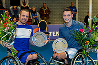 Alphen aan den Rijn, Netherlands, December 16, 2018, Tennispark Nieuwe Sloot, Ned. Loterij NK Tennis, Wheelchair doubles final, winners: Maikel Scheffers (L) (NED) and Ruben Spaargaren (NED) <br /> Photo: Tennisimages/Henk Koster