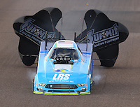 Feb 25, 2017; Chandler, AZ, USA; NHRA funny car driver Tim Wilkerson during qualifying for the Arizona Nationals at Wild Horse Pass Motorsports Park. Mandatory Credit: Mark J. Rebilas-USA TODAY Sports