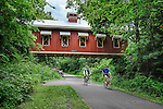 Covered bridge at Hyde Road in Greene County over bike path