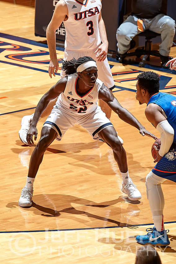 SAN ANTONIO, TX - DECEMBER 9, 2017: The University of Texas at San Antonio Roadrunners defeat the Houston Baptist University Huskies 87-71 at the UTSA Convocation Center. (Photo by Jeff Huehn)
