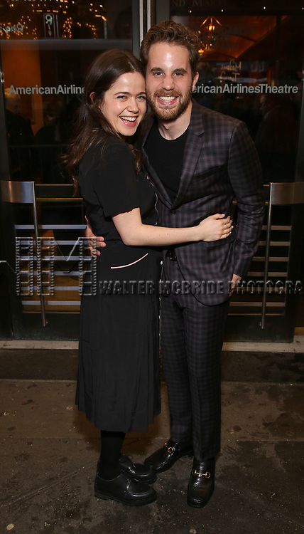 """Molly Gordon and Ben Platt Attends the Broadway Opening Night of """"All My Sons"""" at The American Airlines Theatre on April 22, 2019  in New York City."""