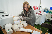 UP Glass workshop, Hatfield House Craft Fair 2014.