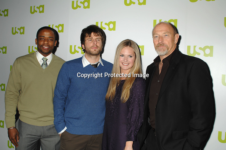 Dule Hill,  James Roday, Maggie Lawson and Corbin Bernsen..at The USA Network Upfront on March 28, 2007 ..at The Modern in New York. ..Robin Platzer, Twin Images