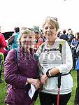 Jacinta Coyle and Jo Taylor who took part in the Fr Willie Cleary memorial walk from Oldbridge House to the Hill of Slane. Photo:Colin Bell/pressphotos.ie