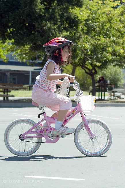 Berkeley CA  Five-year-old proud after just mastering riding a two-wheeler MR