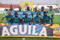 MONTERIA - COLOMBIA, 17-03-2019: Jugadores de Jaguares posan para una foto previo al partido por la fecha 10 de la Liga Águila I 2019 entre Jaguares de Córdoba F.C. y Alianza Petrolera jugado en el estadio Jaraguay de la ciudad de Montería. / Players of Jaguares pose to a photo prior the match for the date 10 as part Aguila League I 2019 between Jaguares de Cordoba F.C. and Alianza Petrolera played at Jaraguay stadium in Monteria city. Photo: VizzorImage / Andres Felipe Lopez / Cont