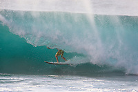 TIAGO PIRES (PRT) surfing at Backdoor Pipeline, North Shore of Oahu, Hawaii. Photo: joliphotos.com