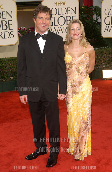 DENNIS QUAID & date at the Golden Globe Awards at the Beverly Hills Hilton Hotel..19JAN2003...© Paul Smith / Featureflash