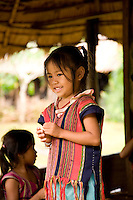 Local child at Culural Center on Bolaven Plateau, Laos