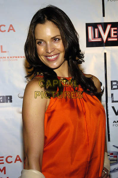 "ROBIN PAUL.6th Annual Tribeca Film Festival - Cadilac: ""Live!"" after party at Underbar, New York City, New York, USA..April 28th, 2007.half length orange dress satin.CAP/ADM/BL.©Bill Lyons/AdMedia/Capital Pictures *** Local Caption ***"