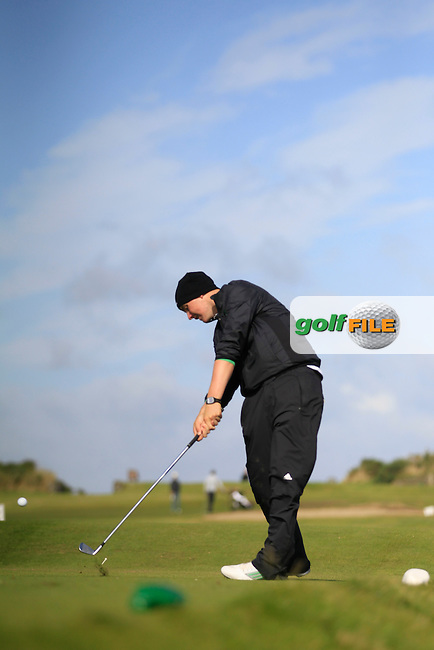 Thomas Mulligan (Laytown &amp; Bettystown) on the 7th tee during Round 3 of the Irish Youths Amateur Close Championship in Ardglass Golf Club on Friday 29th August 2014.<br /> Picture:  Thos Caffrey / www.golffile.ie