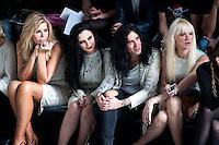 Bibi Andersen, Alaska, Mario Vaquerizo-<br /> Davidelfin in Mercedes-Benz Fashion Week Madrid 2013