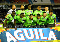 BARRANQUILLA - COLOMBIA - 30 - 09 - 2017: Los jugadores de Deportivo Cali posan para una foto, durante partido de la fecha 14 entre Atletico Junior y Deportivo Cali por la Liga Aguila II - 2017, jugado en el estadio Metropolitano Roberto Melendez de la ciudad de Barranquilla. /  The players of Jaguares F.C. pose for a photo, during a match of the date 14th between Atletico Junior and Deportivo Cali for the Liga Aguila II - 2017 at the Metropolitano Roberto Melendez Stadium in Barranquilla city, Photo: VizzorImage  / Alfonso Cervantes / Cont.