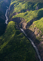Grand Canyon of the Stikine River. Area downstream from Red Chris that would/will be directly effected, particularly in the event of any kind of a tailings Dam failure.  Transboundary Mines, Northwest B.C. 2017