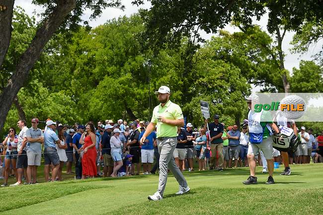 Tyrrell Hatton (ENG) heads down 3 during round 3 of the 2019 Charles Schwab Challenge, Colonial Country Club, Ft. Worth, Texas,  USA. 5/25/2019.<br /> Picture: Golffile | Ken Murray<br /> <br /> All photo usage must carry mandatory copyright credit (© Golffile | Ken Murray)