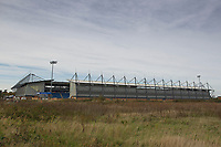A general shot of the Community Stadium during Colchester United vs Crawley Town, Sky Bet EFL League 2 Football at the JobServe Community Stadium on 13th October 2018