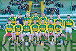 The Kerry hurling team who played against Wexford at Austin Stack Park on Sunday..