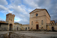 Pianosa Island. The church of San Gaudenzio...