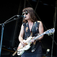 Abbe May performing at the 2012 Melbourne Big Day Out, 29 January 2012