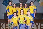SOCCER: The Beaufort Soccer team who played Croch/Kilfinney Limerick on Saturday morning  at Cuman Ioseaf, Tralee in the quarter finals of the Community Games on Saturday Front l-r: Ciara O'Sullivan, Hannah O'Donoghue and Aoife Murphy. Back l-r: Fiadhna Tangley,Shauna O'Connor, Ellen O'neill, Orla Murphy and Orla Moynihan.