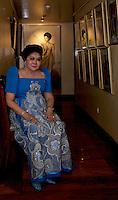 Imelda Marcos, in her apartment Makati