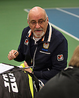 Rotterdam, The Netherlands, 07.03.2014. NOJK ,National Indoor Juniors Championships of 2014, Umpire<br /> Photo:Tennisimages/Henk Koster