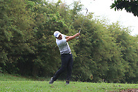 Hideto Tanihara (Asia) in the rough on the 6th during the Saturday Foursomes of the Eurasia Cup at Glenmarie Golf and Country Club on the 13th January 2018.<br /> Picture:  Thos Caffrey / www.golffile.ie