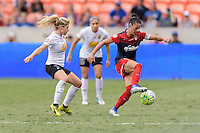 Houston, TX - Sunday Oct. 09, 2016: McCall Zerboni, Ali Krieger during the National Women's Soccer League (NWSL) Championship match between the Washington Spirit and the Western New York Flash at BBVA Compass Stadium. The Western New York Flash win 3-2 on penalty kicks after playing to a 2-2 tie.