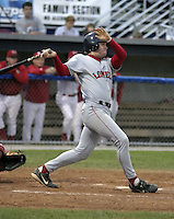 August 7, 2004:  Andrew Pinckney of the Lowell Spinners, Single-A NY-Penn League affiliate of the Boston Red Sox, during a game at Dwyer Stadium in Batavia, NY.  Photo by:  Mike Janes/Four Seam Images