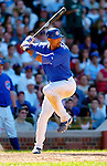 2 July 2005: Derrek Lee, All-Star first baseman for the Chicago Cubs, at bat against the Washington Nationals. The Nationals defeated the Cubs 4-2 in front of 40,488 at Wrigley Field in Chicago, IL. Mandatory Photo Credit: Ed Wolfstein