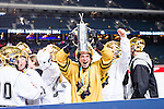 Solna 2014-03-15 Bandy SM-final Damer Kareby IS - AIK  :  <br /> AIK:s m&aring;lvakt Linda Od&eacute;n jublar med SM-pokalen efter rmatchen<br /> (Foto: Kenta J&ouml;nsson) Nyckelord:  SM SM-final final dam damer Kareby AIK jubel gl&auml;dje lycka glad happy