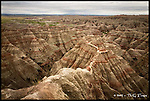Into the Badlands<br /> Badlands National Park, South Dakota