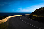 Vanishing point: Coast road, Cote Vermeille, Pyrenees Orientale, France