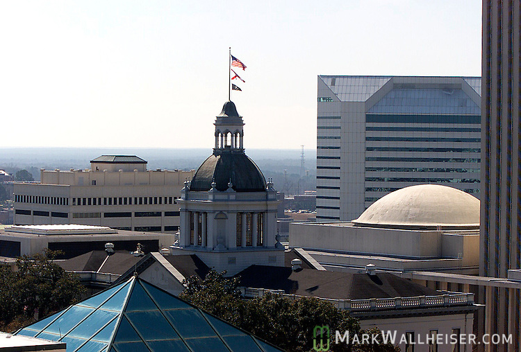 The dome of the Florida State Capitol and the Tallahassee skyline February 20, 2003.    (Mark Wallheiser/TallahasseeStock.com)