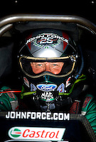 Sept. 5, 2010; Clermont, IN, USA; NHRA funny car driver John Force during qualifying for the U.S. Nationals at O'Reilly Raceway Park at Indianapolis. Mandatory Credit: Mark J. Rebilas-