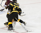 Ben Israel (CC - 27), Alex Leclerc (CC - 1) - The Boston College Eagles defeated the visiting Colorado College Tigers 4-1 on Friday, October 21, 2016, at Kelley Rink in Conte Forum in Chestnut Hill, Massachusetts.The Boston College Eagles defeated the visiting Colorado College Tiger 4-1 on Friday, October 21, 2016, at Kelley Rink in Conte Forum in Chestnut Hill, Massachusett.