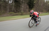 Tim Wellens (BEL/Lotto Soudal) speeding along<br /> <br /> Team Lotto-Soudal at the Liège-Bastogne-Liège 2017 recon