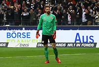 Torwart Ron-Robert Zieler (VfB Stuttgart) frustriert - 31.03.2019: Eintracht Frankfurt vs. VfB Stuttgart, Commerzbank Arena, DISCLAIMER: DFL regulations prohibit any use of photographs as image sequences and/or quasi-video.