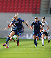 Charlotte Saint Sans Levacher of France in action during the UEFA Womens U19 Final at Parc y Scarlets Saturday 31st August 2013. All images are the copyright of Jeff Thomas Photography-www.jaypics.photoshelter.com-07837 386244-Any use of images must be authorised by the copyright owner.