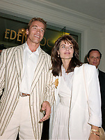 ARCHIVE: CANNES, FRANCE. c. May 1991: Arnold Schwarzenegger & Maria Shriver at the Cannes Film Festival.<br /> File photo © Paul Smith/Featureflash