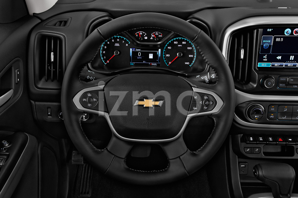 Car pictures of steering wheel view of a 2017 Chevrolet Colorado ZR2 Crew 4 Door Pick Up