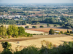 Real farms and villages, Forli, Italy.
