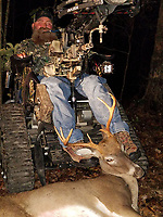 Courtesy photo<br /> Steve Swope shows the 8-point buck he bagged in September with his crossbow near his home in east Benton County.