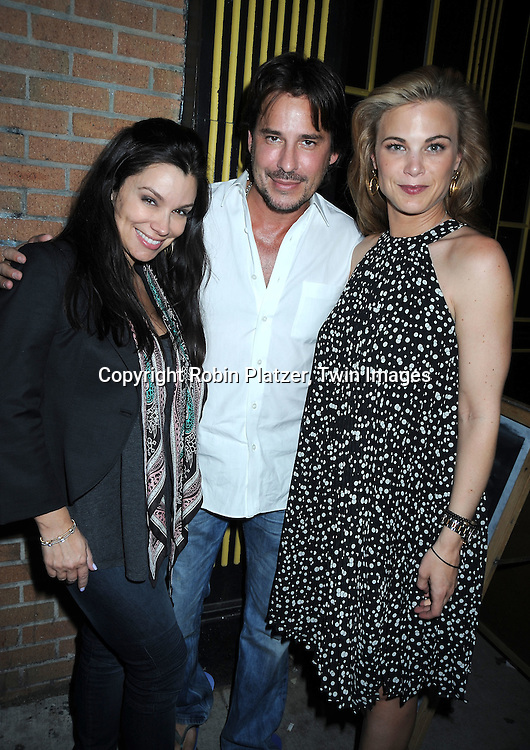 """Gretta Monahan and boyfriend  Ricky Paull Goldin and Gina Tognoni attending the viewing party for TLC's Series """"Seeing Vs Believing"""" which is hosted by Ricky Paull Goldin of All My Children and Jeff Gurtman on May 2, 2010 at Stanton Public in New York City."""