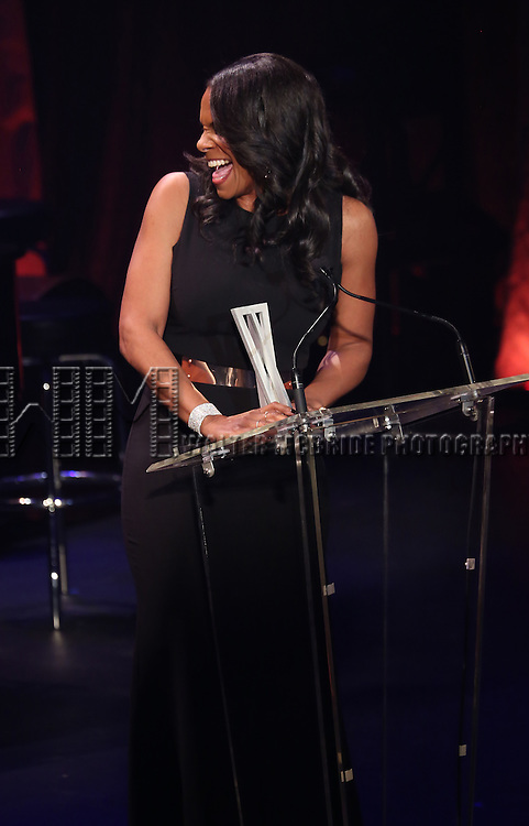 Audra McDonald onstage during the Roundabout Theatre Company's  50th Anniversary Gala at The Waldorf-Astoria on February 29, 2016 in New York City.