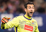 Goalkeeper Diego Lopez (l) of RCD Espanyol reacts during the La Liga match between Atletico de Madrid and RCD Espanyol at the Vicente Calderón Stadium on 03 November 2016 in Madrid, Spain. Photo by Diego Gonzalez Souto / Power Sport Images