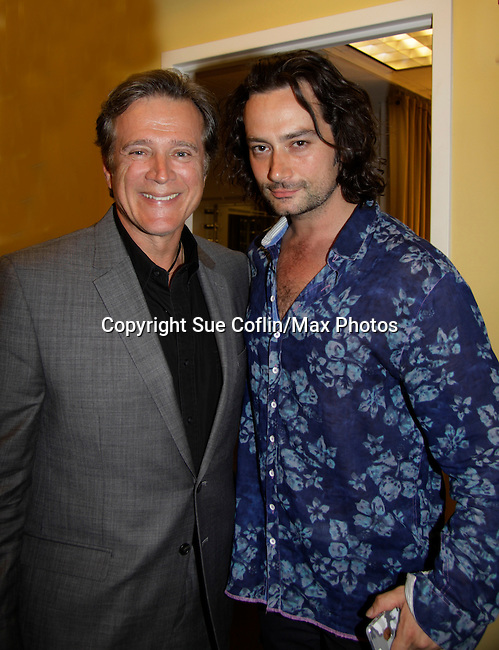 Guiding Light Frank Dicopouls and Bold and The Beautiful Constantine Maroulis at Loukoumi & Friends Concert held on June 23, 2014 at the Scholastic Theatre, New York City, New York. Proceeds will benefit The Loukoumi Make a Difference Foundation. Foundation first project will be the Make A Difference with Loukoumi television special airing on FOX stations Oct 19-20. (Photo by Sue Coflin/Max Photos)