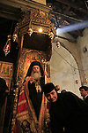Bethlehem, Greek Orthodox Patriarch Theophilus III on Christmas Day at the Church of the Nativity